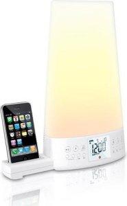 Muse Wake-Up-Light klokkeradio med iPhone/iPod-dockingstation