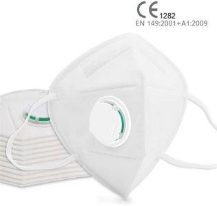 Munnbeskyttelse KN95 med ventil (10 stk)