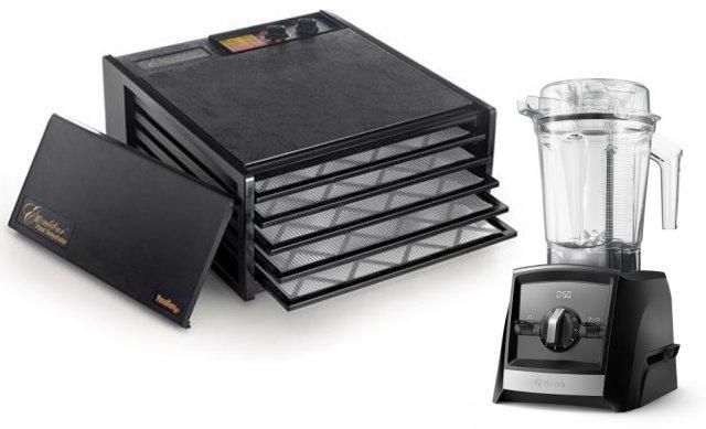 Excalibur 5 brett + VitaMIx Ascent 2300i