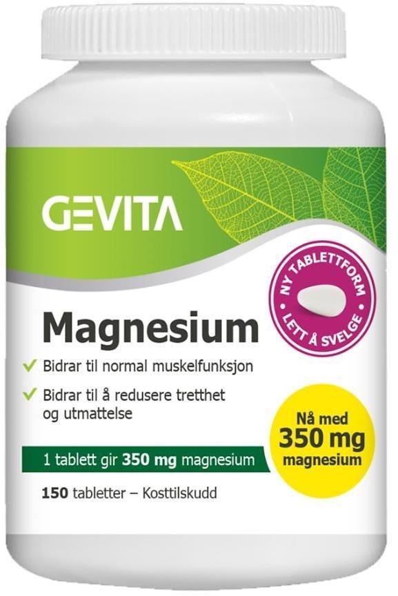Gevita Magnesium 350mg 150 tabletter