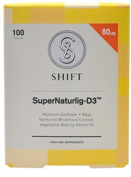 Shift SuperNaturlig-D3 80 mcg 100 tabletter