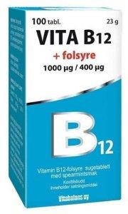 Vitabalans B12 + Folsyre 1mg/400ug 100 tabletter