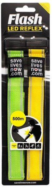 Flash LED-refleksbånd 2-pk