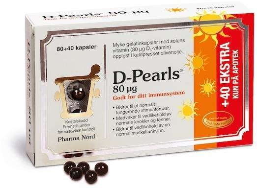 Pharma Nord D-Pearls 80 mcg 120 kapsler