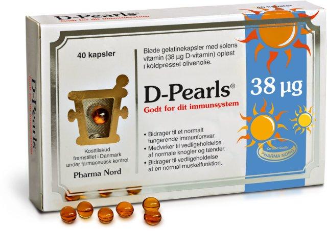 Pharma Nord D-Pearls 38 mcg 40 kapsler