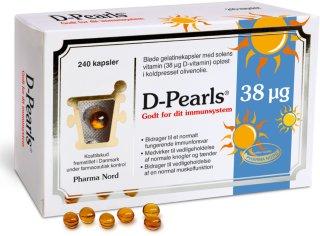 D-Pearls 38 mcg 240 kapsler