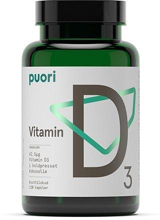 Puori Vitamin D3 Kokosolje 120 kapsler