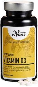 Vitamin D3 vegetabilsk  62,5 mcg  90 tabletter