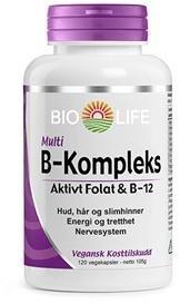 Bio Life B-Kompleks 120 kapsler
