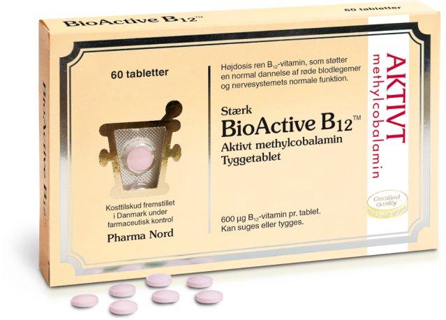Pharma Nord BioActive B12 600µg 60 tabletter
