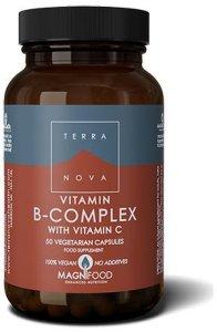 Terranova B-Complex with Vitamin C 50 kapsler