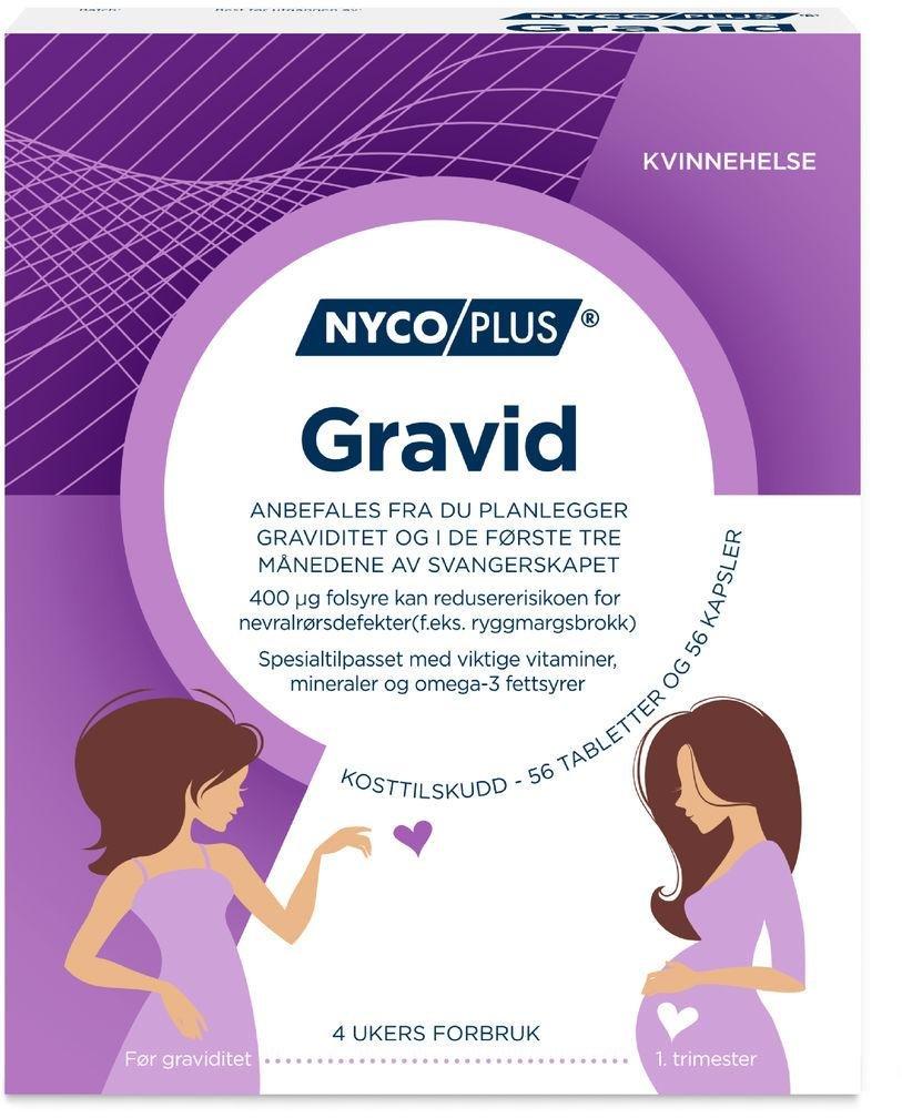 Nycoplus Gravid 56 tabletter og 56 kapsler