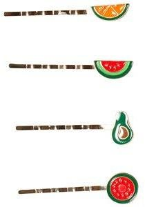4-Pakke Frukt Hårspenne