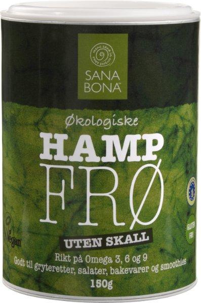 Sana Bona Hampfrø uten skall 150g