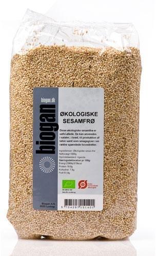 Biogan Økologiske Sesamfrø  1 Kg
