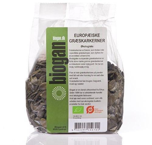 Biogan Europeiske Luksus Gresskarkjerner økologisk 400g