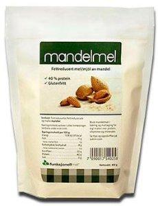 Funksjonell Mat Fettredusert Mandelmel 400g