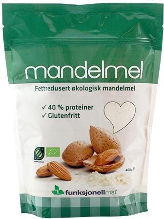 Funksjonell Mat Fettredusert Mandelmel økologisk 400g