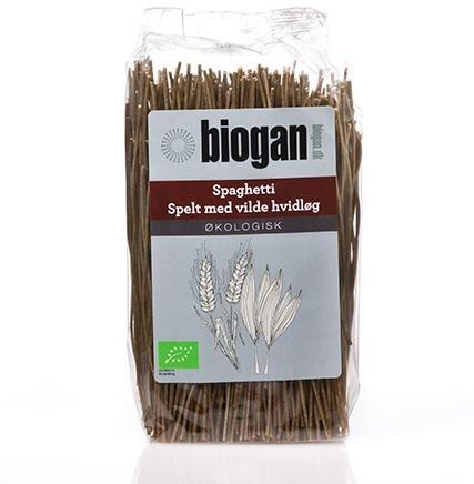 Biogan Økologisk spelt spaghetti med vill hvitløk 500g