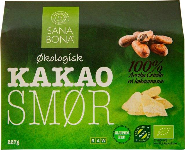 Sana Bona Rått kakaosmør økologisk 227g