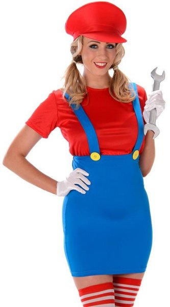 Partychimp Søt Mario babe
