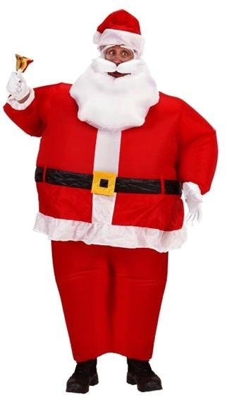 Widmann Oppblåsbar Julenissekostyme