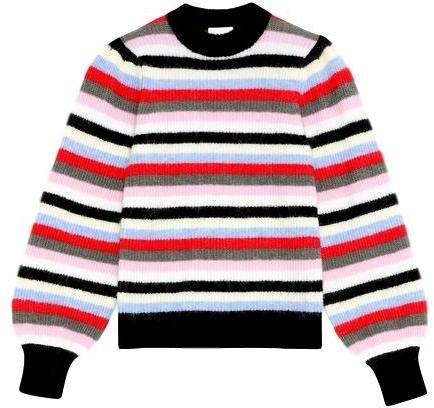 Ganni Soft wool knit Genser Striper