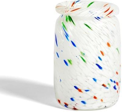 HAY Splash White Dot vase 22cm
