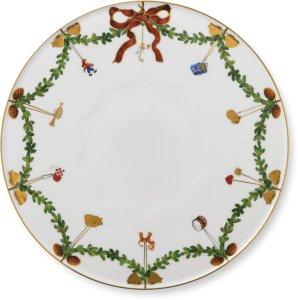 Stjerne Riflet Jul kakefat 32cm