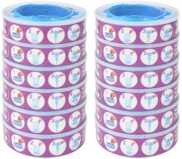 Angelcare Refill Diaper Genie bleiebøtte 12 stk