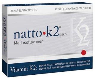 Natto K2 vitamin 30 kapsler