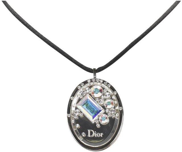 Dior Vintage Cristal Boreal Lipgloss Pendant Necklace