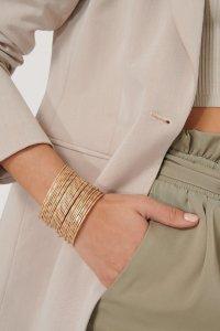 NA-KD Accessories Layered Fine Rings Armcuff