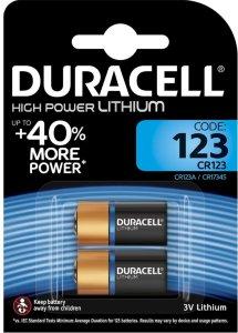 Duracell CR123A 2 stk