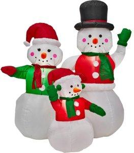 Anslut Oppblåsbar snømannfamilie