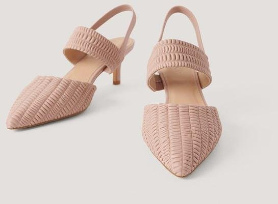 NA-KD Shoes Ruffled Slingback Detail Pumps