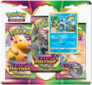 Pokémon Sword & Shield: Vivid Voltage Sobble Booster 3-pk