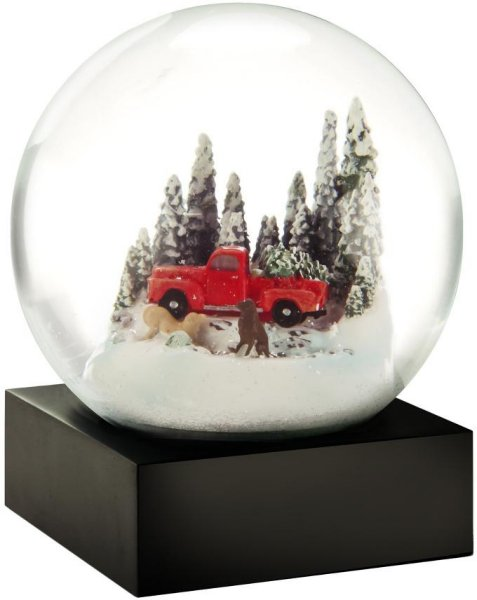 CoolSnowGlobes Red Truck snøkule