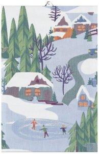 Vinterliv kjøkkenhåndkle
