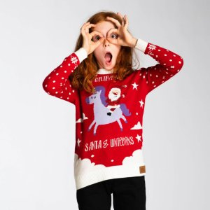 Enhjørning Julegenser (Barn)