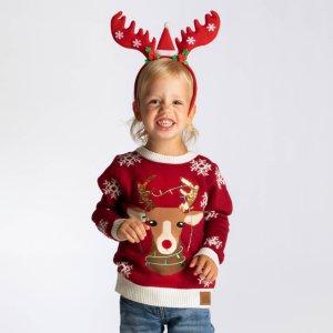 SillySanta Søtt Reinsdyr Julegenser (Barn)