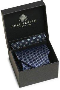 Amanda Christensen Box Set Printed Silk 8 cm Tie and Pocket Square