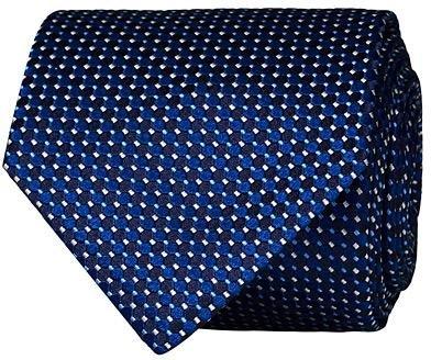 Eton Silk Geometric Weave Tie
