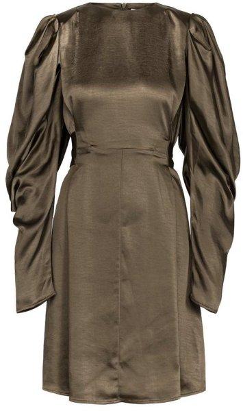 Maud Sharp Shoulder Tie Dress Short
