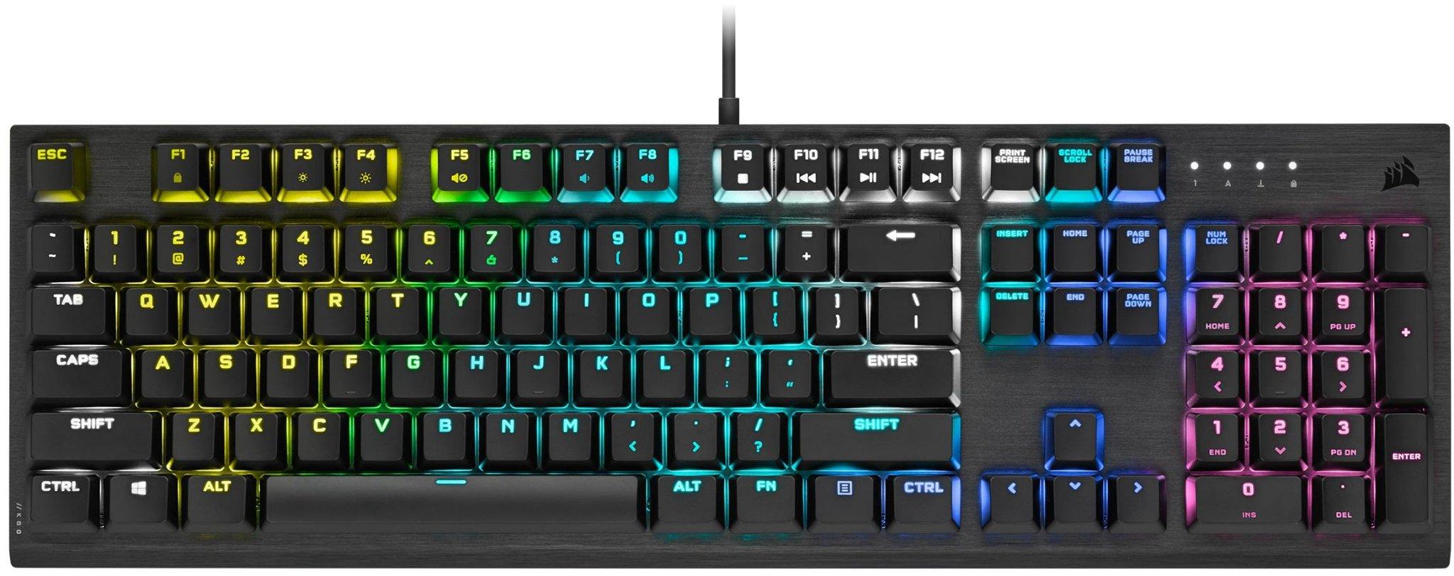 Kjøpe Corsair K60 RGB PRO Mekansik Tastatur [MX Viola] på