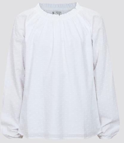 Cubus GIRLS BIG Bluse med liten volang i halsen