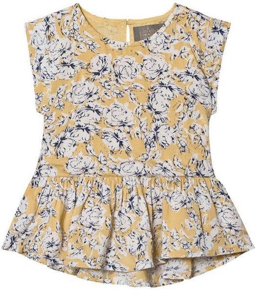 Creamie Flower Bluse Rattan