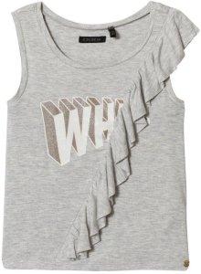 Grey Ruffle Print Vest