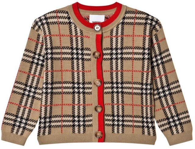 Burberry Check Merino Wool Jacquard Jakke