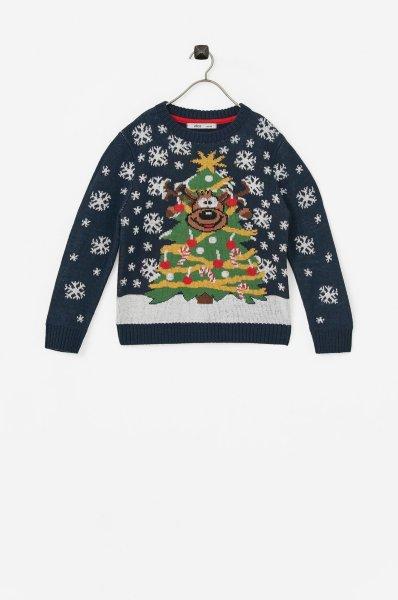 Ellos Marineblå Julegenser (Barn)
